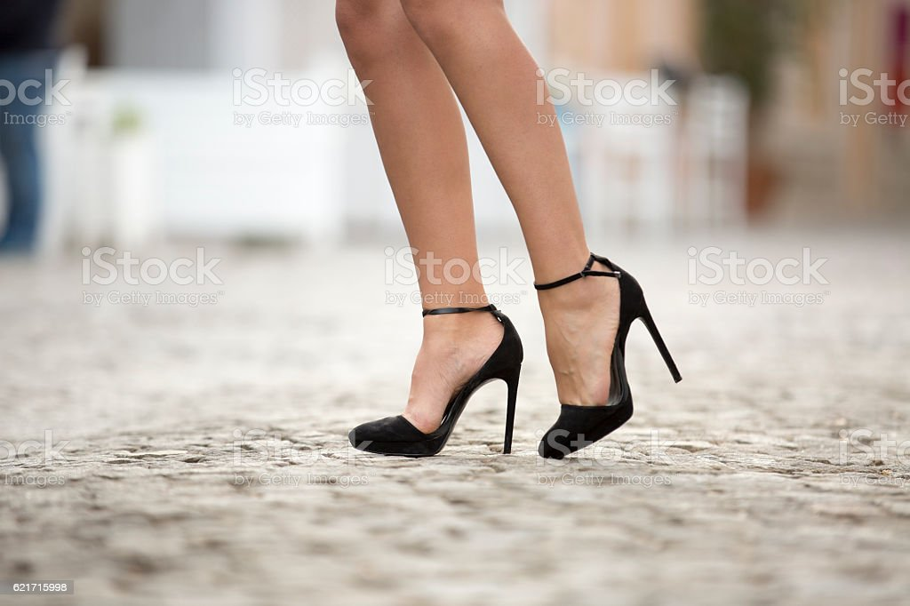 High Heels On Street stock photo