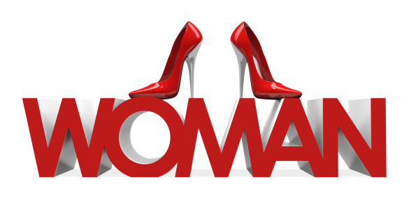 3d High Heels Shoes On Woman Word Stock Photo - Download Image Now