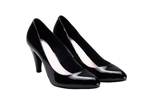 high heels schuhe (klicken sie hier, um weitere informationen) - schwarze hohe schuhe stock-fotos und bilder