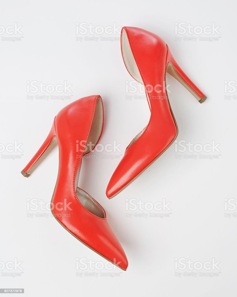 High heels view from above stock photo