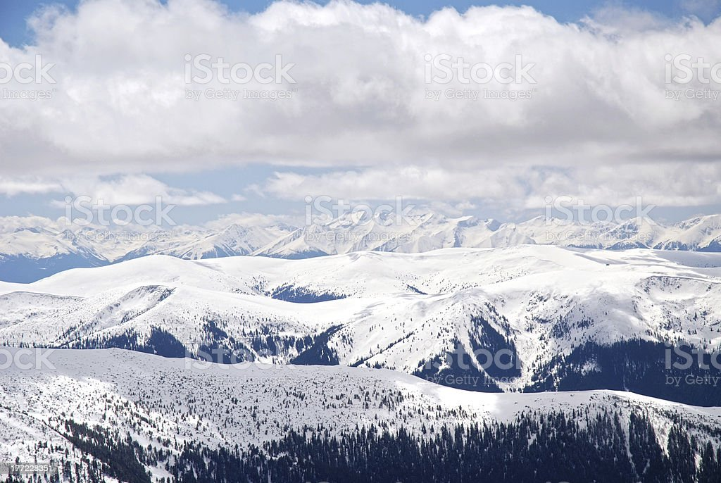 High icy mountaintop stock photo
