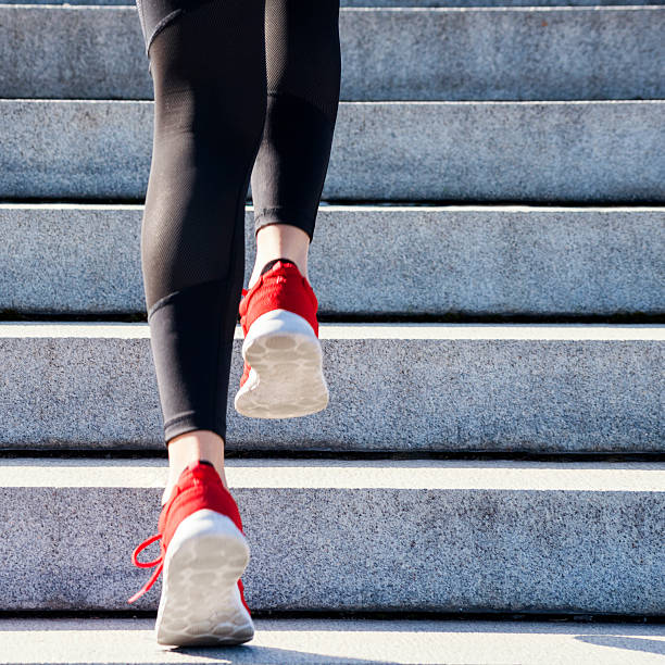 high intensity training - staircase stock photos and pictures
