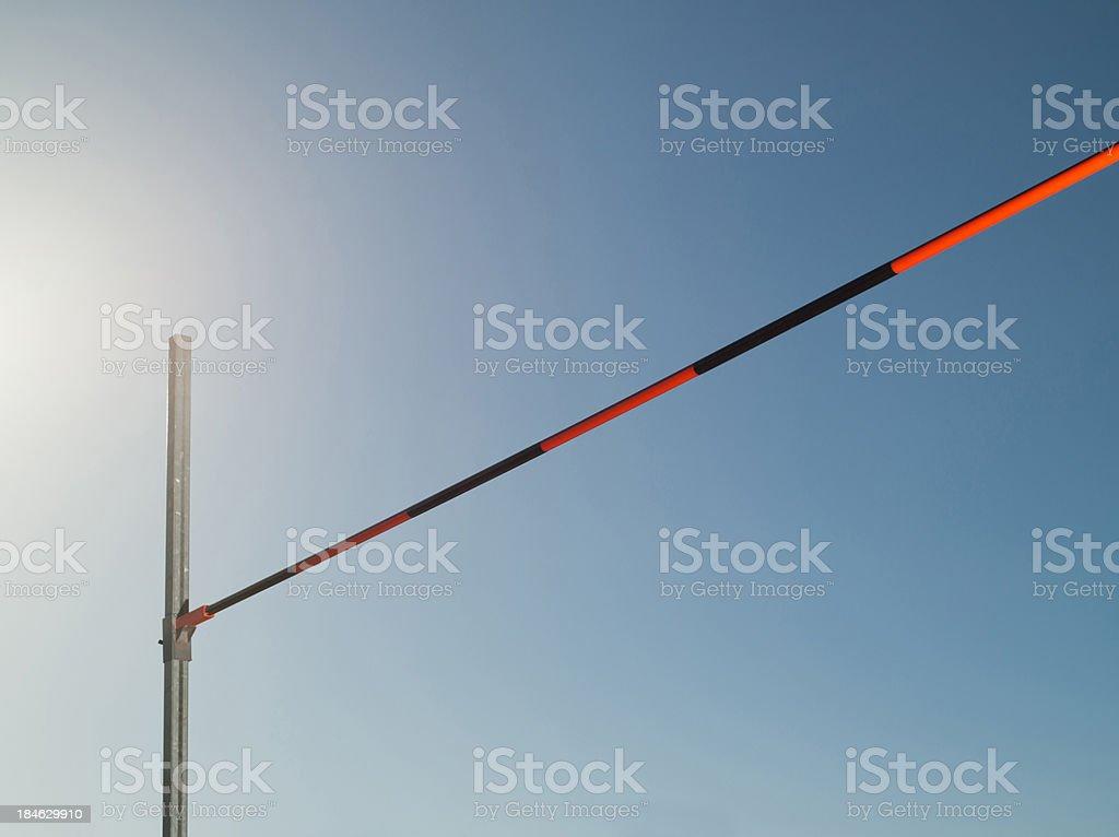 High jump bar stock photo