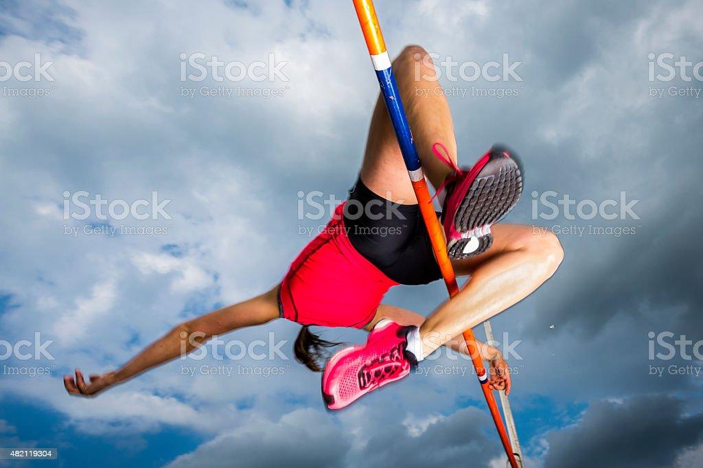 high jump stock photo
