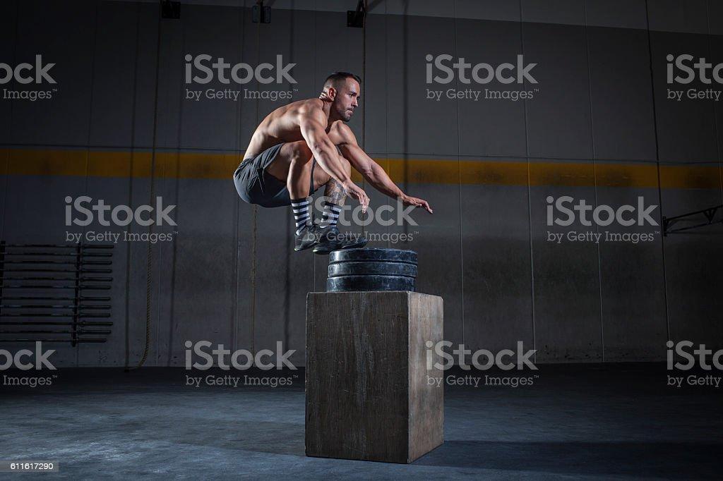 salto de altura - foto stock