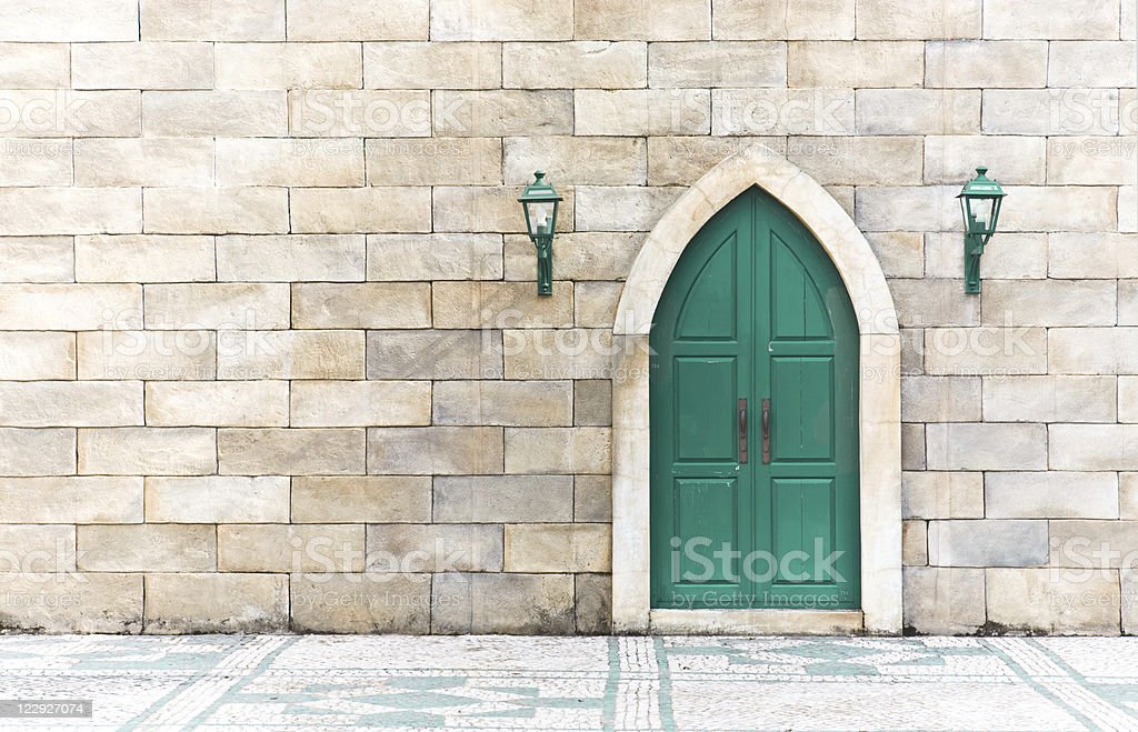 High key photo of an arabic door royalty-free stock photo