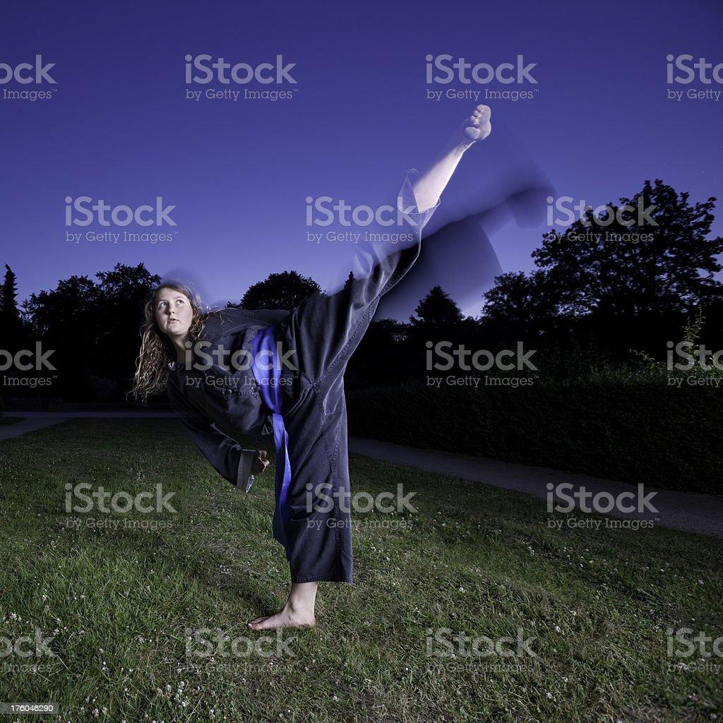 high kick royalty-free stock photo