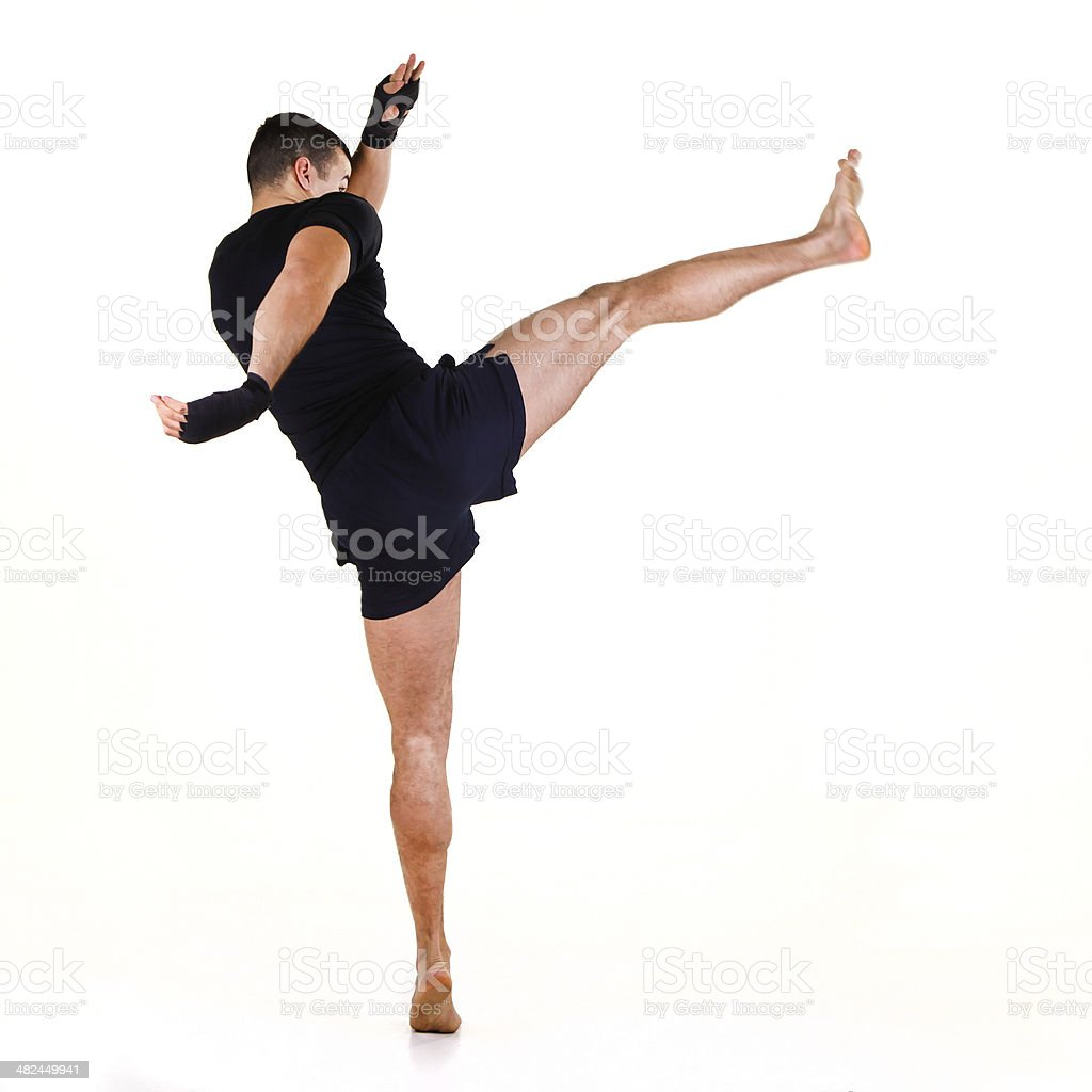 High kick stock photo