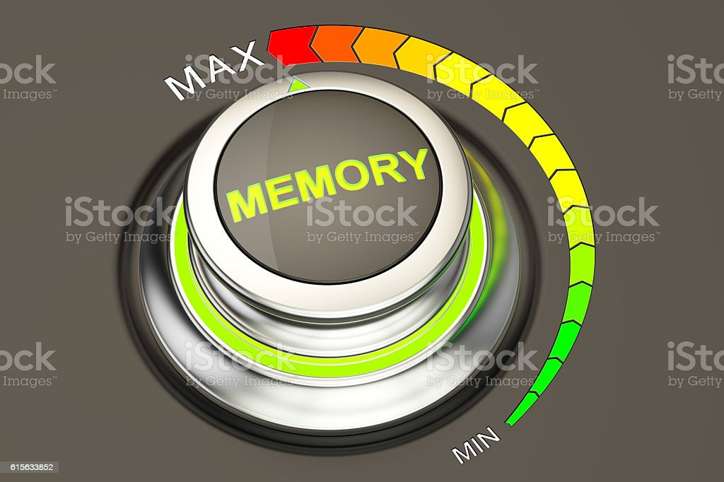 high level memory concept, 3D rendering stock photo