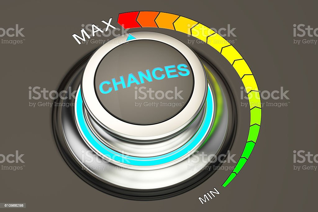 high level of chances concept, 3D rendering stock photo