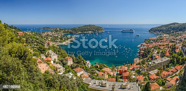 istock High Level Panorama of Viilefranche Cote d'Azur 482166958