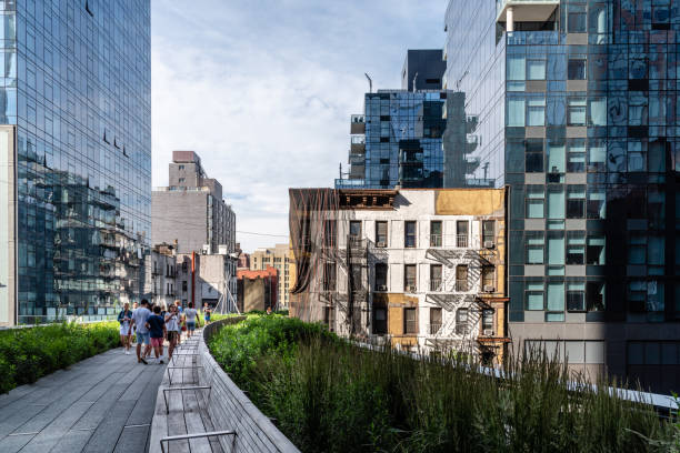 High Line greenway in New York City stock photo