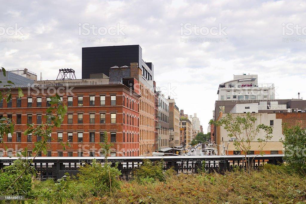 High Line Park Chelsea, New York royalty-free stock photo