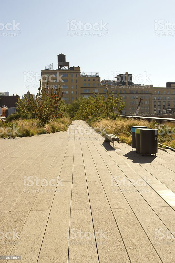 High Line Park in Chelsea, New York stock photo