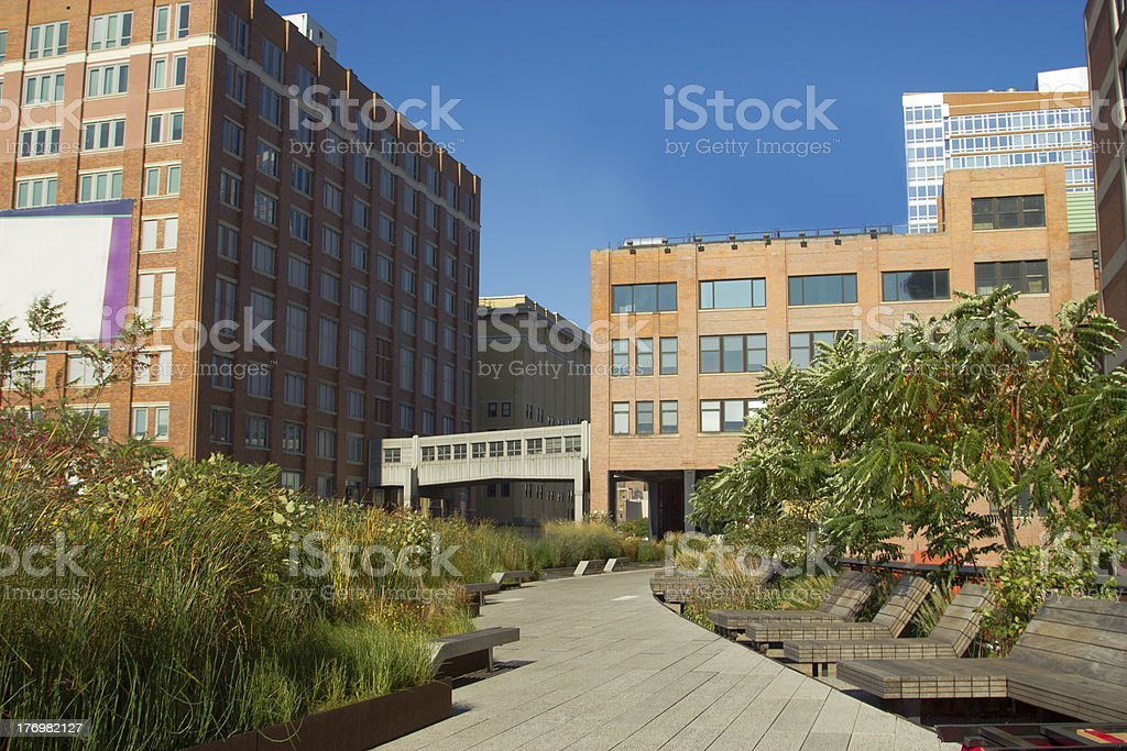 High Line Park in Chelsea, NY stock photo