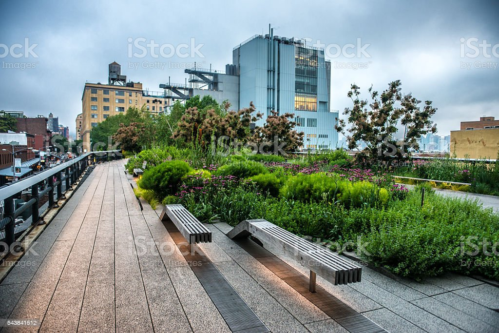 HIgh Line Park in New York City stock photo