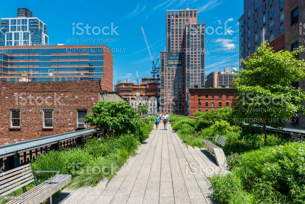 High Line Park in New York City USA stock photo