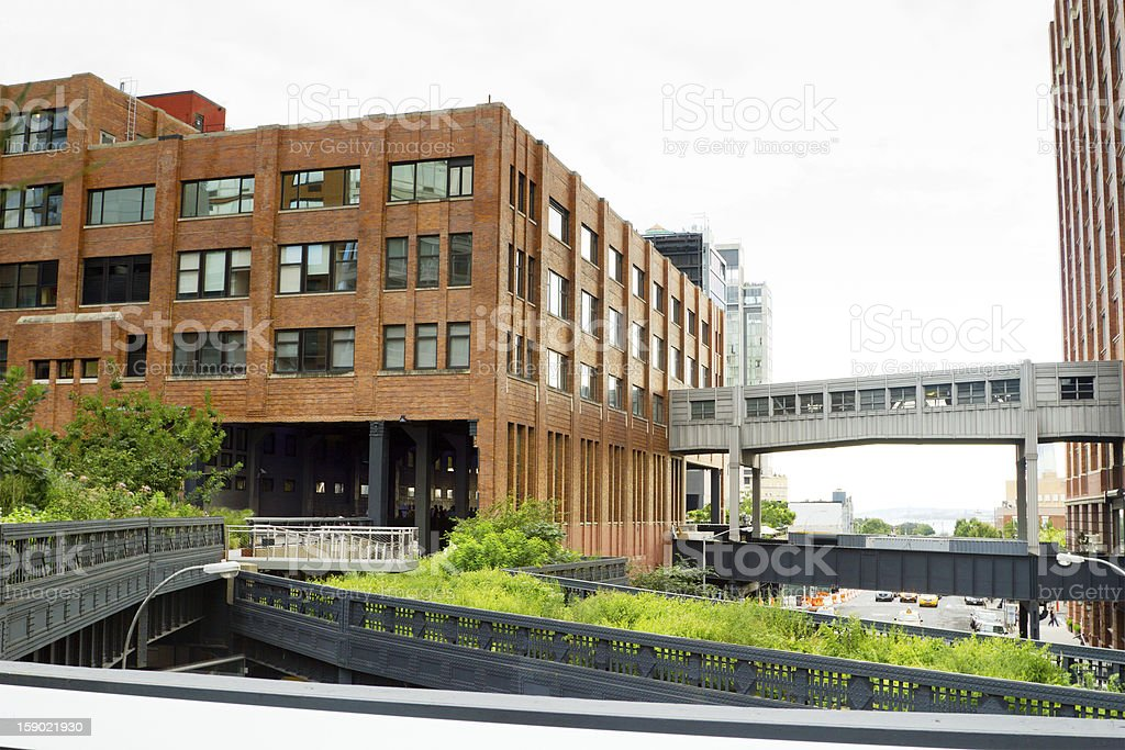 High Line Park in New York stock photo
