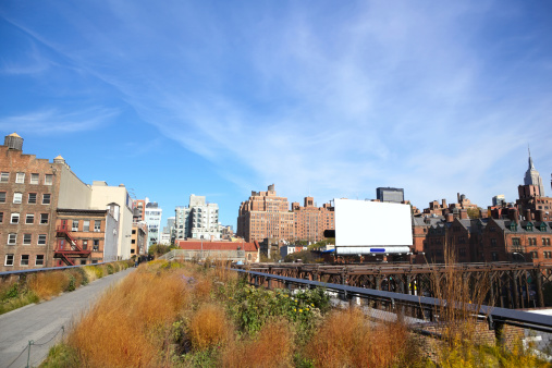 High Line Park and Manhattan skyline, New York City