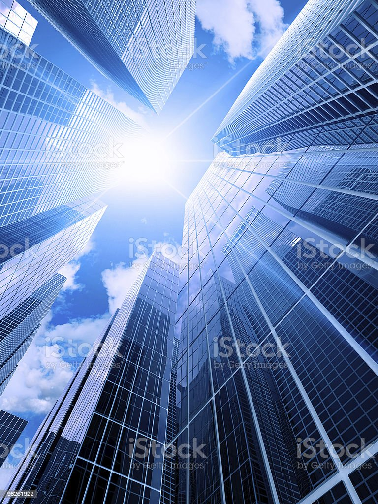 High modern buildings royalty-free stock photo