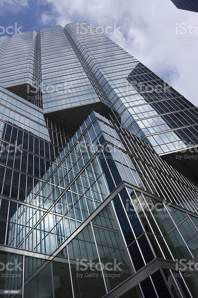 High modern skyscrapers on a background of the blue sky royalty-free stock photo