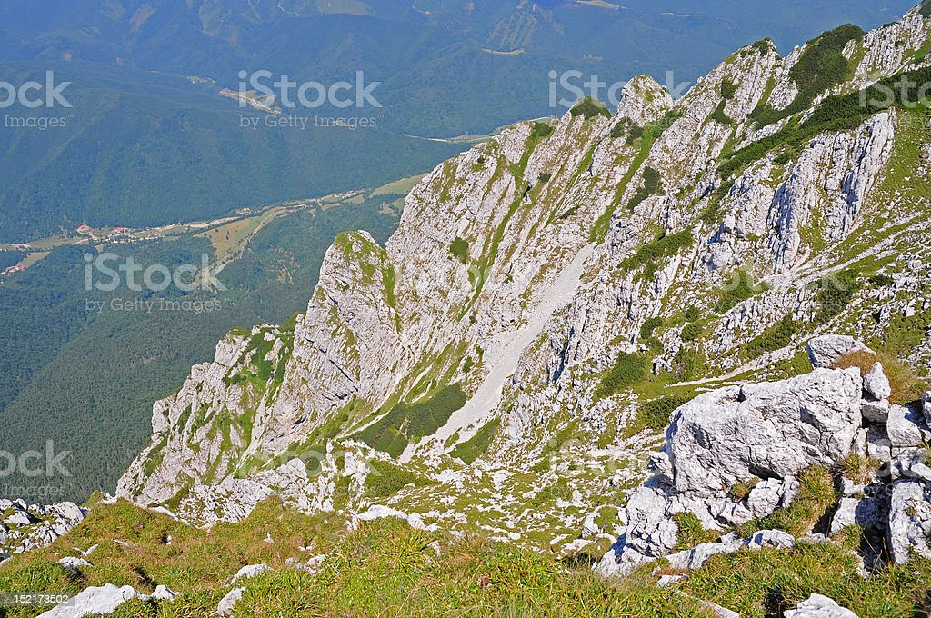 High mountain alpine valley royalty-free stock photo