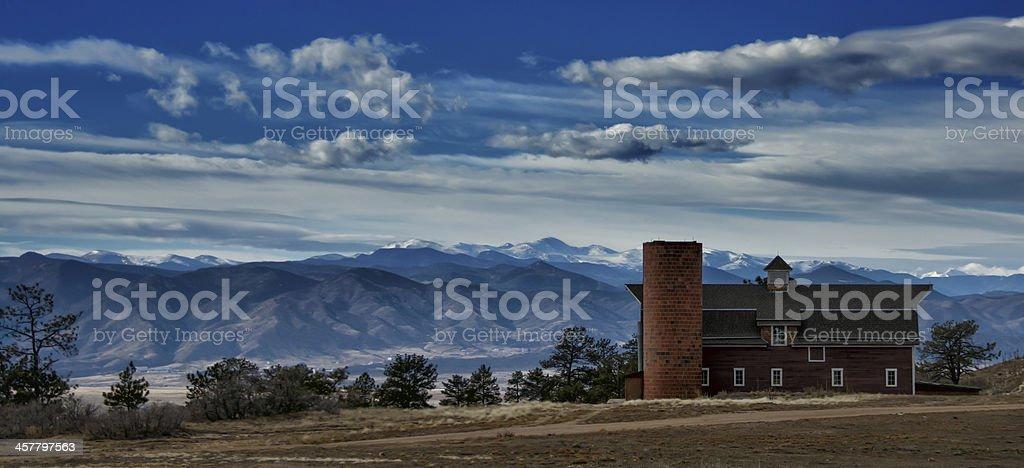High Mountain Barn stock photo