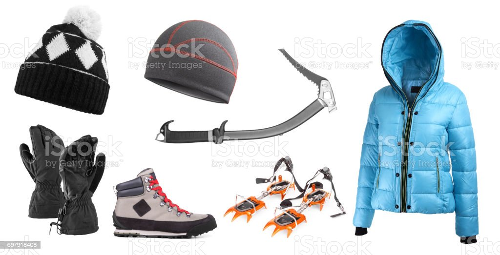 High mountain equipment stock photo