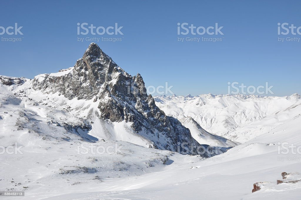 High mountain in Pyrenees stock photo