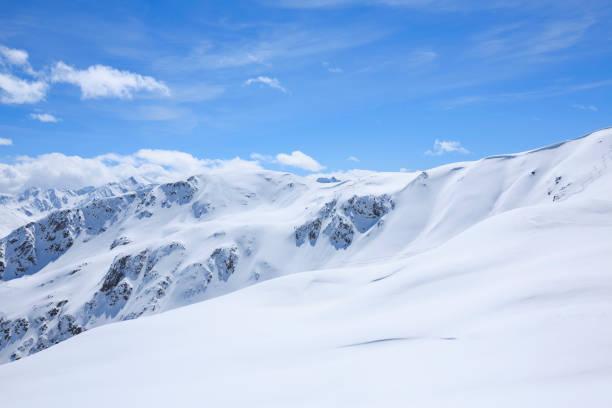 High mountain  landscape  At the top. Italian Alps  ski area. Ski resort Livigno. italy, Europe. stock photo