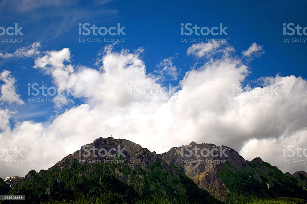 High mountain landscape stock photo