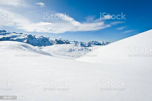 Photo of High mountain landscape with sun