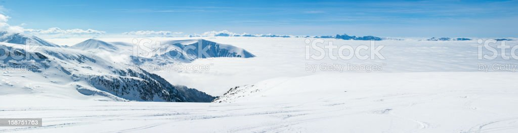 High Mountain Panorama (Zoom in) royalty-free stock photo