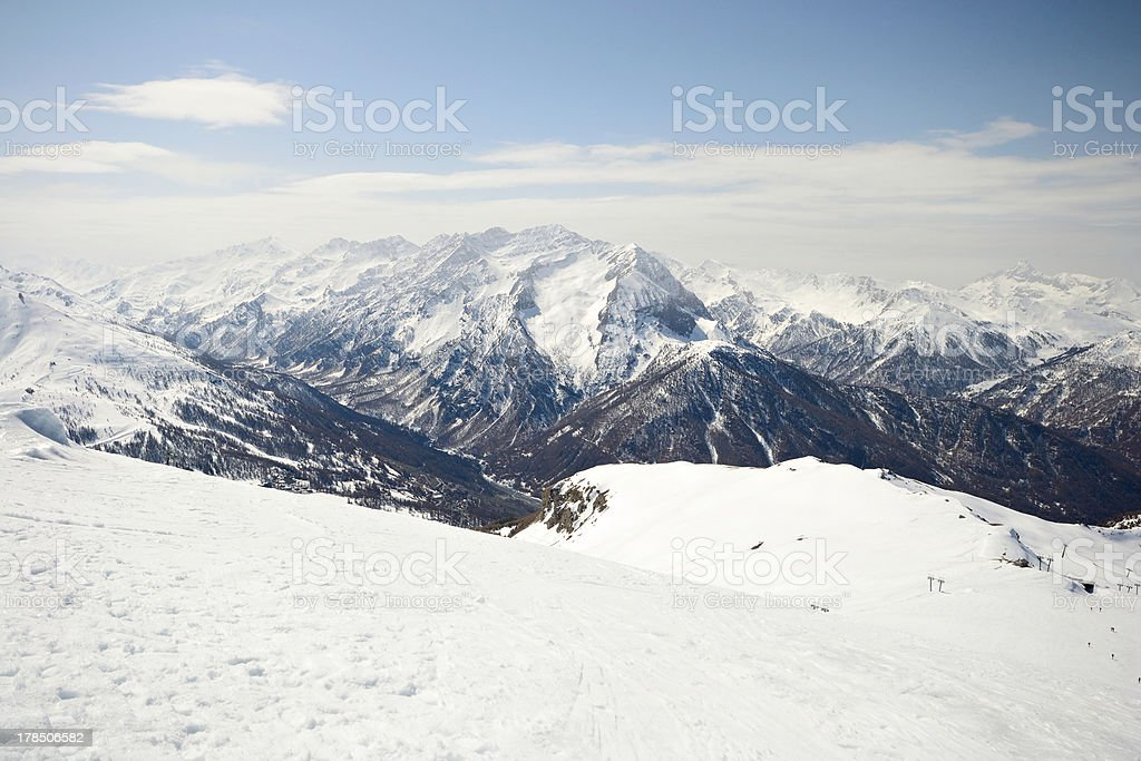 High mountain range royalty-free stock photo