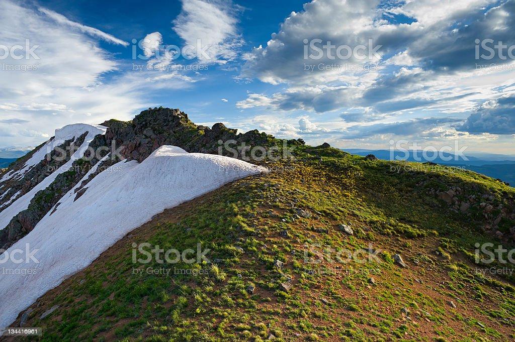High Mountain Ridge in Summer royalty-free stock photo