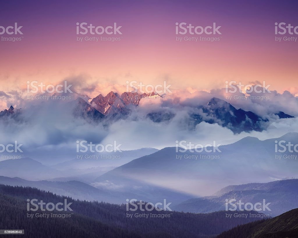 High mountain ridge stock photo