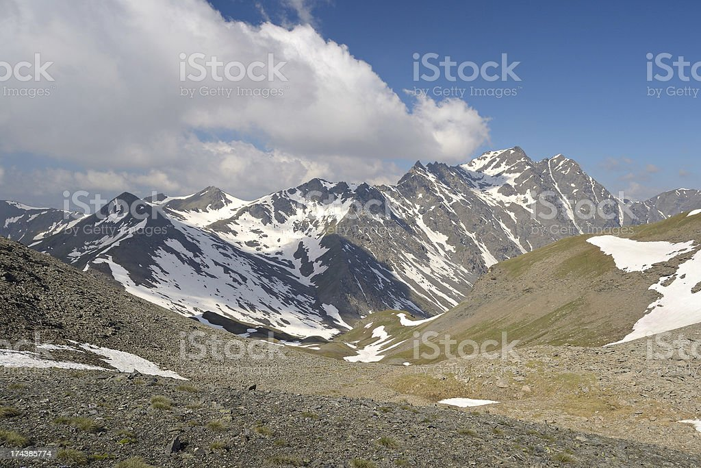 High mountain scene royalty-free stock photo