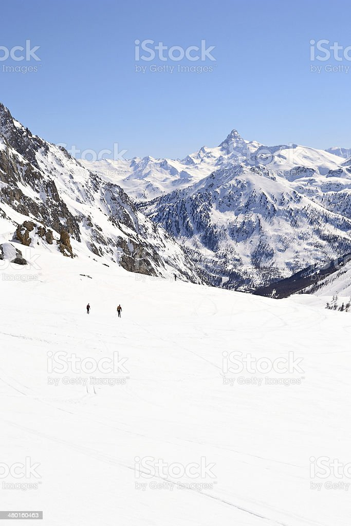 High mountain ski resort royalty-free stock photo