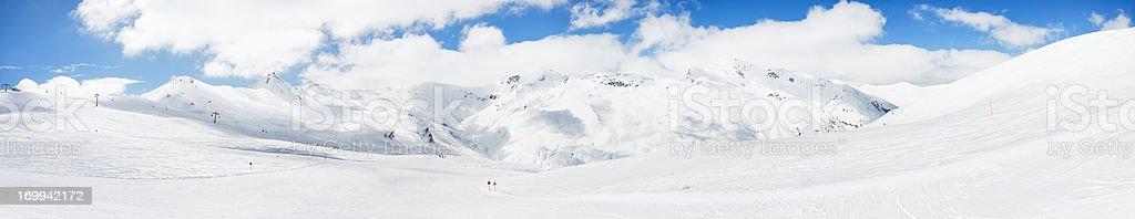 High mountain snowy  landscape - Panorama stock photo