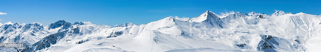 High mountain snowy  landscape stock photo