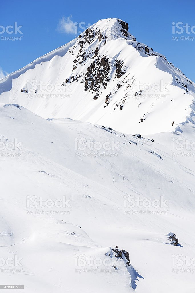 High mountain snowy  landscape royalty-free stock photo