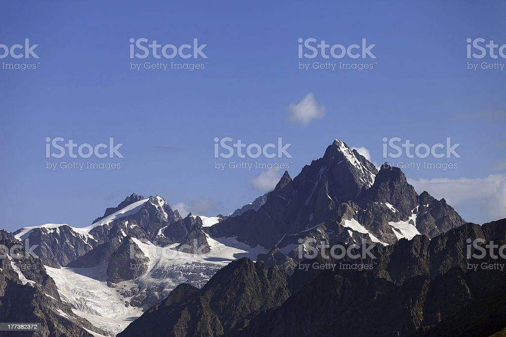 High mountains. Caucasus Mountain. Georgia royalty-free stock photo