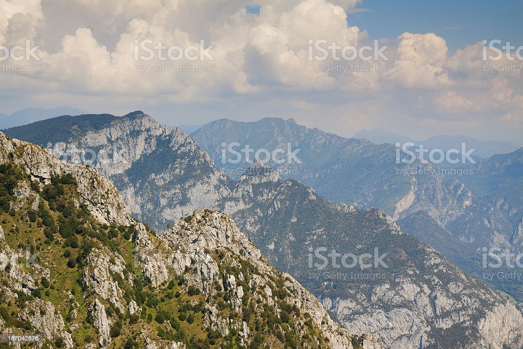 High Mountains crest landscape royalty-free stock photo