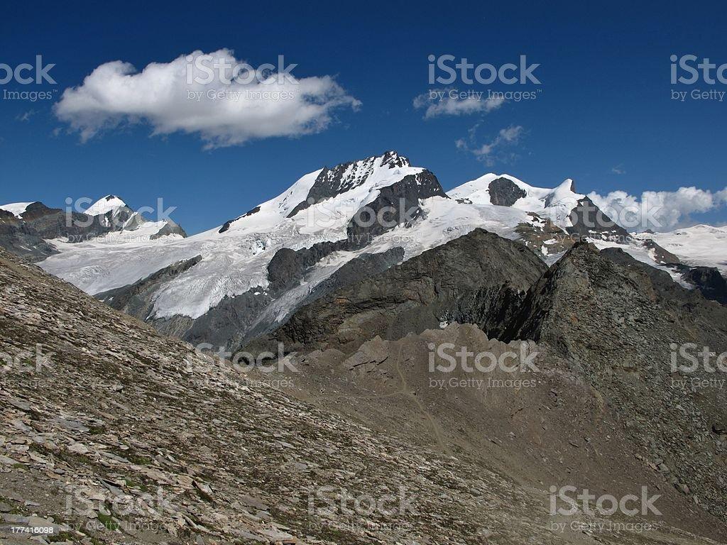 High Mountains In Valais Canton stock photo