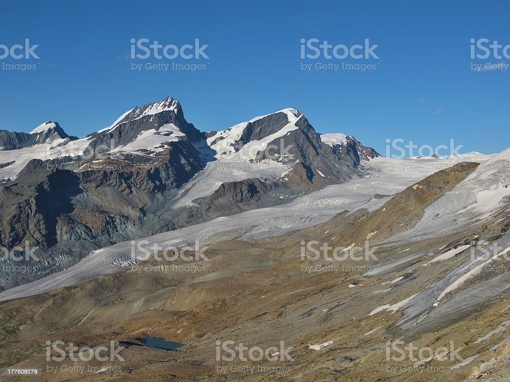 High Mountains Near Zermatt stock photo
