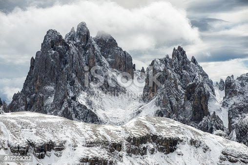 istock High mountains ridge in the Alps. Beautiful natural landscape in the winter time 917229082