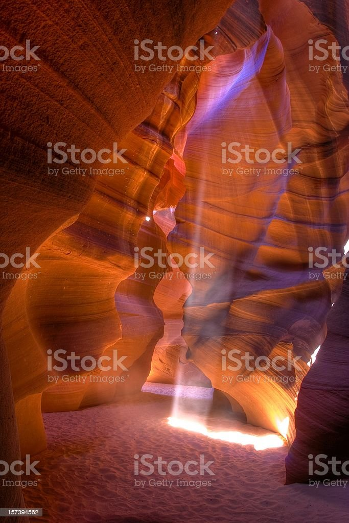 high noon at the Antelope Canyon royalty-free stock photo