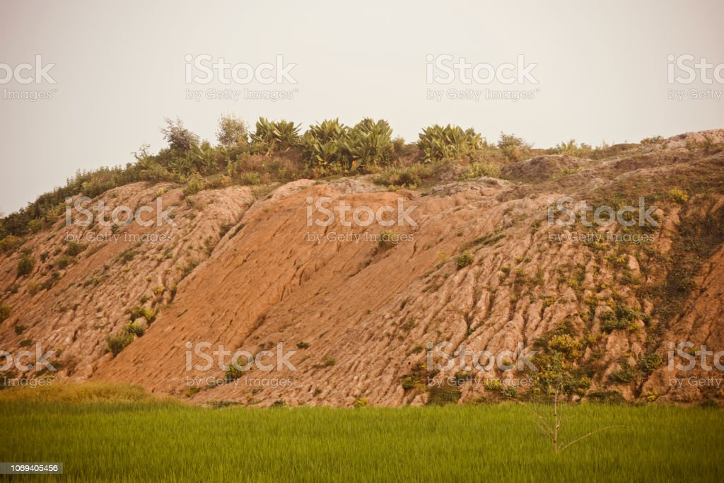 High parts of a hill isolated unique photo stock photo