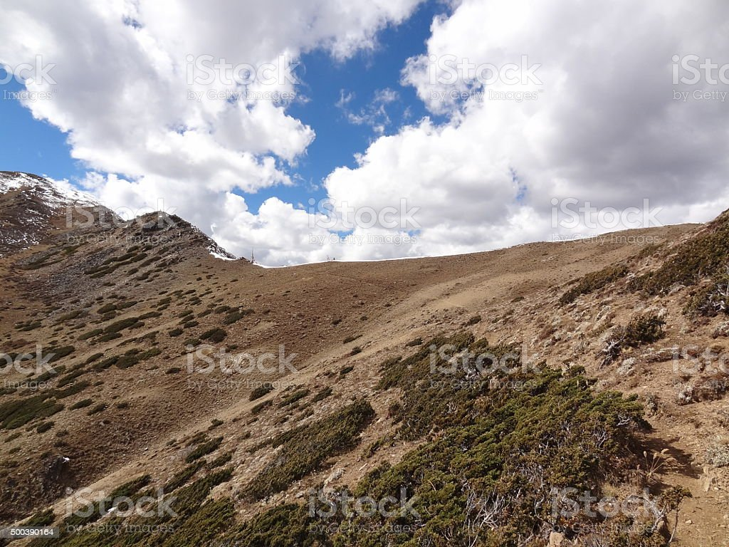 High pass in the Daxue Shan mountains, Sichuan, China stock photo