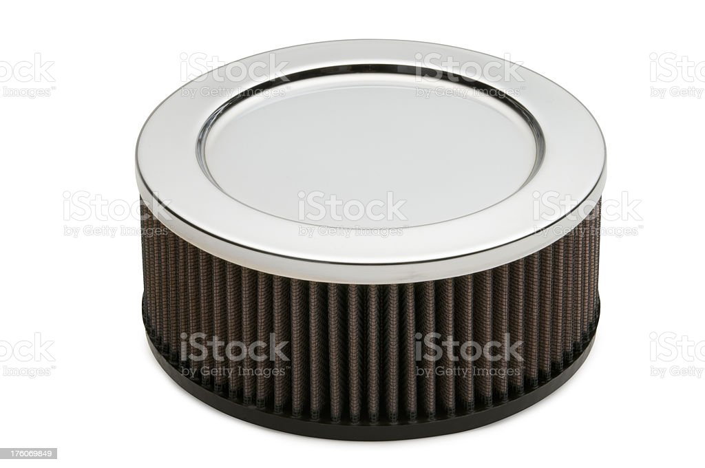 High Performance Air Filter on white royalty-free stock photo